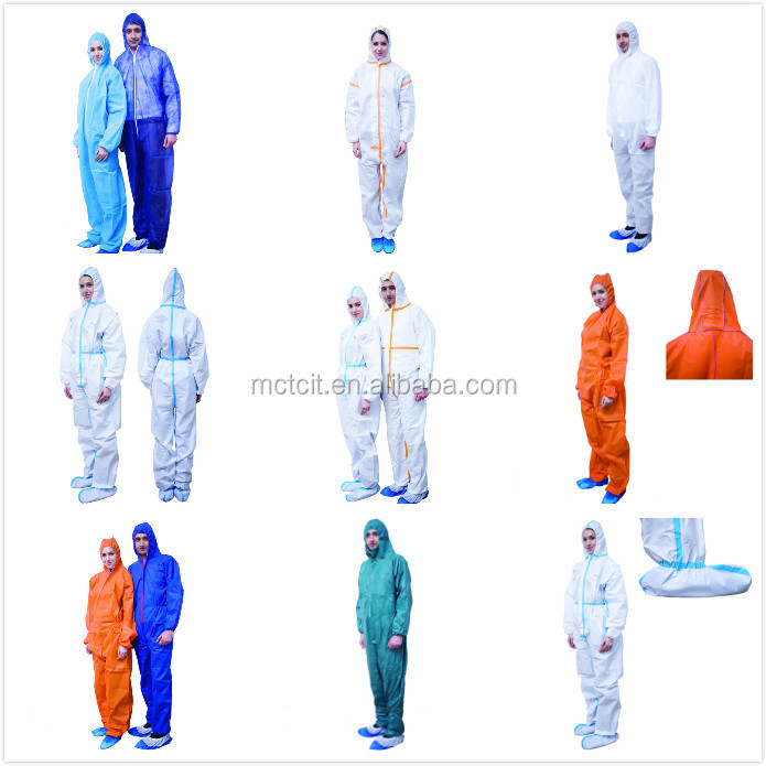 Multifunctional chemical protective clothing pp disposable safety coverall