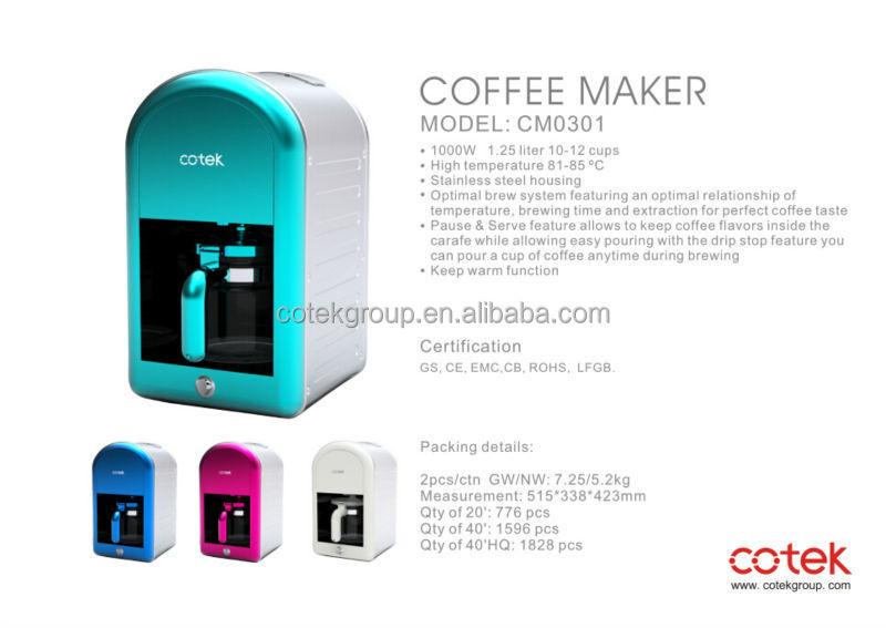 Heißer verkauf RetroDesign 3 in 1 frühstück mit  ~ Kaffeemaschine Heißer Kaffee