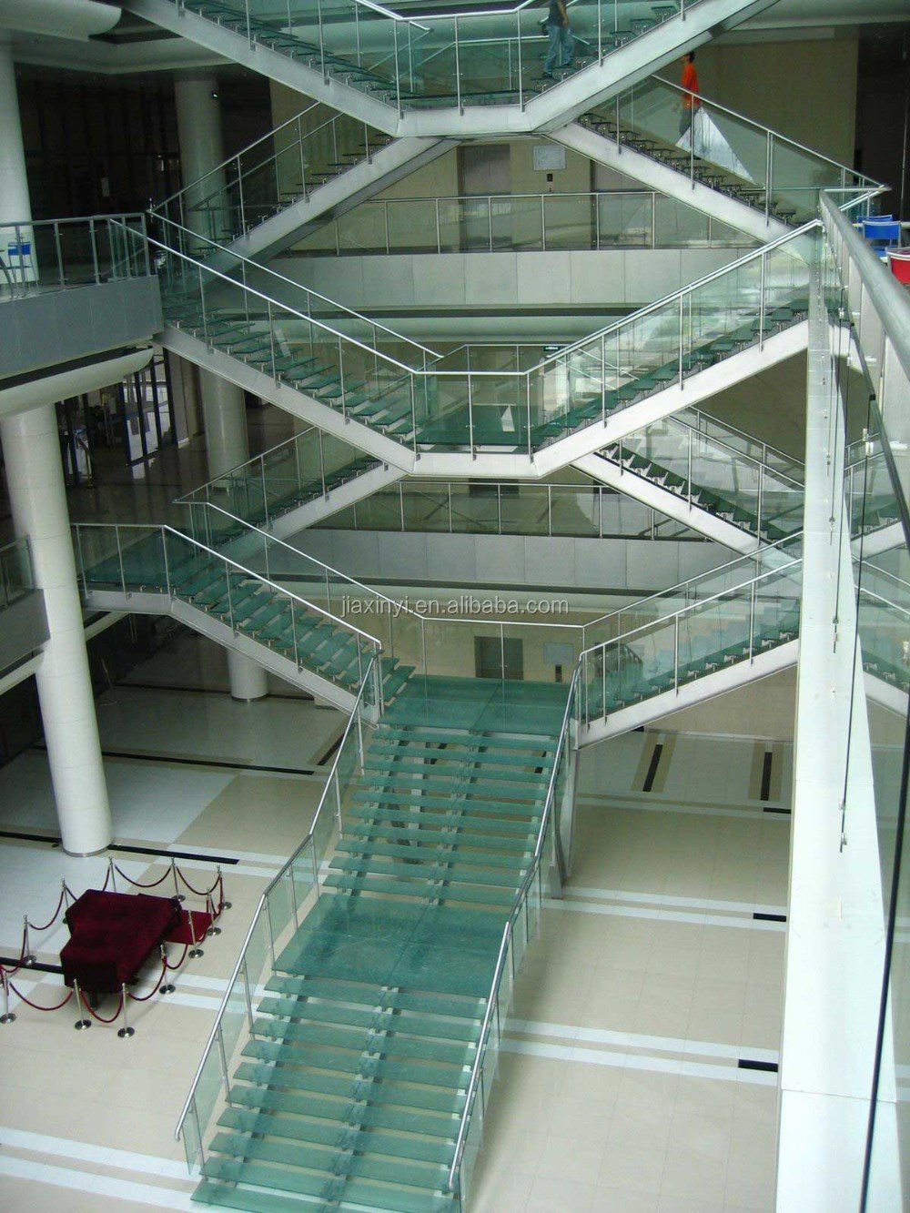 Modern Glass Folding Stairs / Build Floating Staircase   Buy Glass Staircase,Modern  House Glass Staircase,Interior Decoration Glass Staircase Product On ...