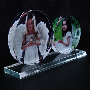 Hot Fashion Color Photo Round sexy glass Photo Frame Wedding Decoration Gift