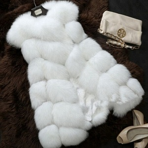Hot Selling Lady's Faux Fur Vest Quality Soft Fox Fur Waist Coat