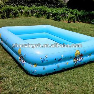 shanghai zhanxing hot sale cheap popular pvc durable inflatable play center pool for kids