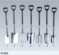 Professional Stainless garden tools China, Spade shovel and fork