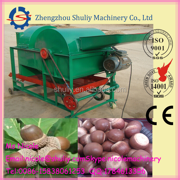 Shuliy acorn huller machine/oak seed shelling machine 0086 15838061253