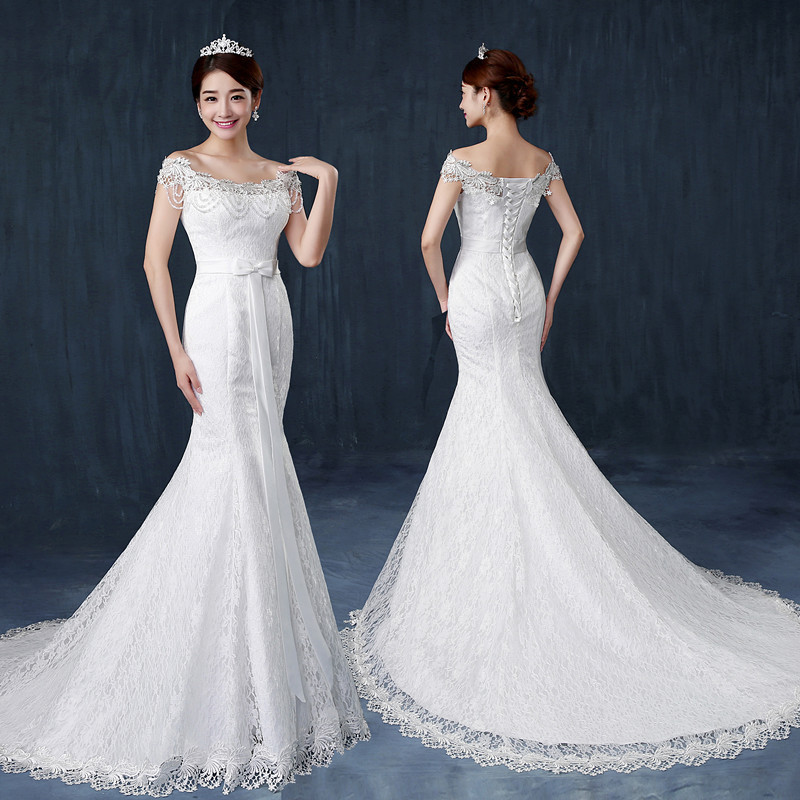 2016 latest design slimming fish tail wedding dress bridal for Design wedding dress online