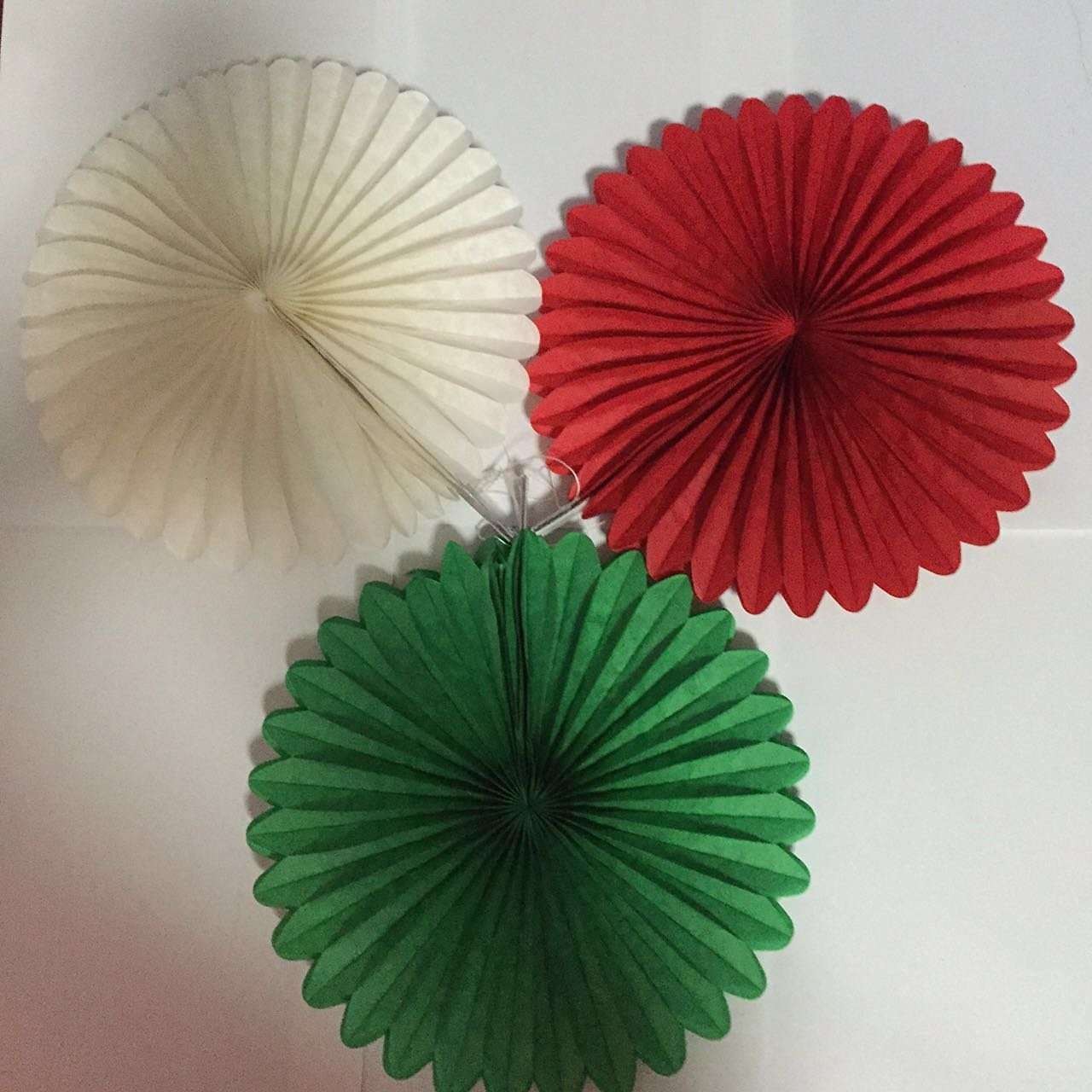 Buy Umiss Decor Christmas Party Paper Fan Decorations Diy