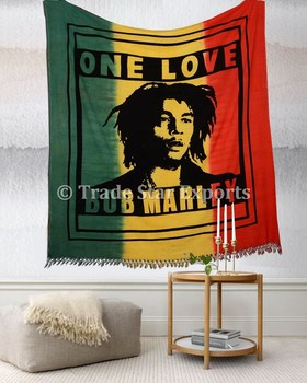 couvre lit bob marley Bob Marley Hippie Tapisseries Indian Queen Coton Couvre lit En  couvre lit bob marley