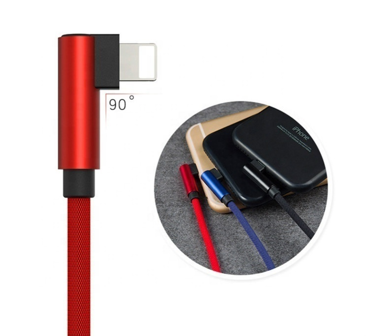 Tinderala Double 90 Degree Elbow Mobile Cell Phone Fast Charger Game Micro Type C 8Pin Data Gaming Charging USB <strong>Cable</strong> for iphone