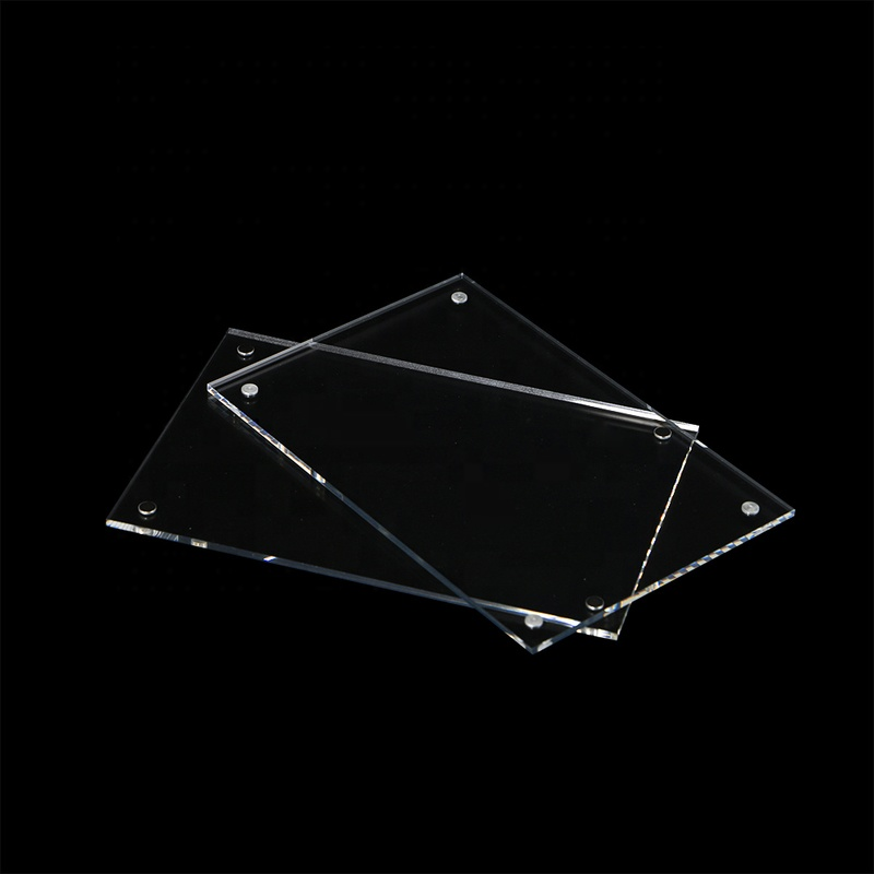 White or Clear Square Acrylic Photo Picture Frames with Magnets Flat Wall Mounted Sign Holder Table Label Holder For Price Tag