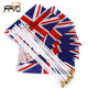 Wholesale custom mini country national flag hand held waving flag