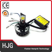 factory wholesale 12v three sides light led motorcycle headlight M3