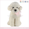 Super soft material white color stuffed dog plush toy