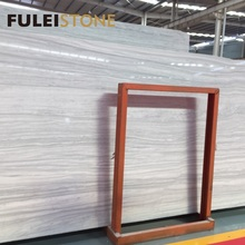 wholesale high quality imported polished natural white Greece nesto wooden marble
