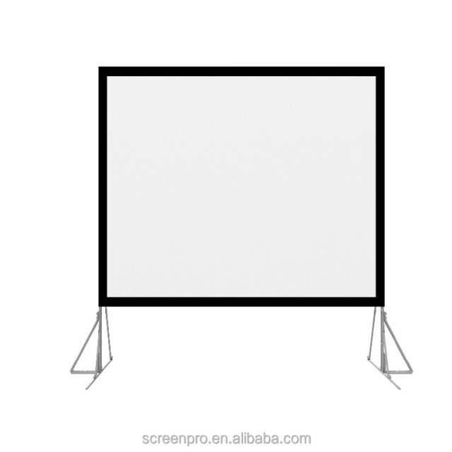 "300"" fast folding projector screen with road casing"
