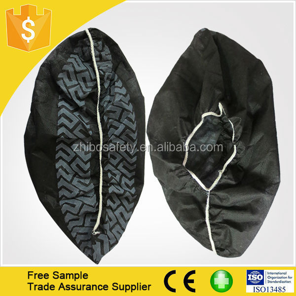 30gsm polypropylene non-woven black shoe cover made in china