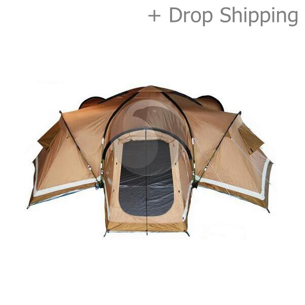 Four Room 15 Person Large Luxury Family Camping Tent -Skype: colsales12