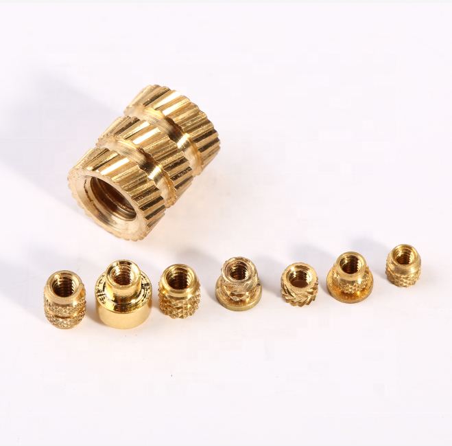 M3 M4 M5 M6 Threaded Press FIT Solid Brass Inserts for Plastic 140 Assorted KIT