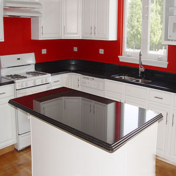 kitchen galaxy granite worktops black installed countertop stunning spm countertops