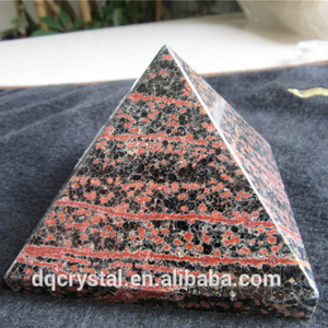 holographic display 3d pyramid/ spot obsidian stereoscopic pyramid