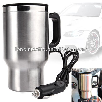 73ad2ed5f1e Car 12v Adapter Electric Heated Stainless Steel Mug Hot Coffee Drink Travel  Cup,16oz Electric Car Coffee Cup - Buy 18/8 Stainless Steel Car Travel ...