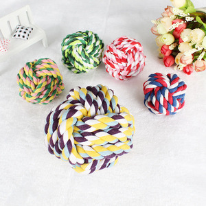 Factory wholesale bite-resistant pet toy set cotton rope knot toy pet supplies dog toy ball