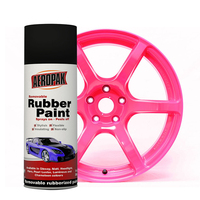 Aeropak 400ml Fluorescent Rubber Paint for wheel and car