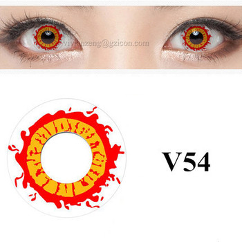 wholesale colored contacts halloween crazy red fire contact lens