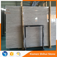 Best price Polished white light grey marble floor price tile and slab with black line