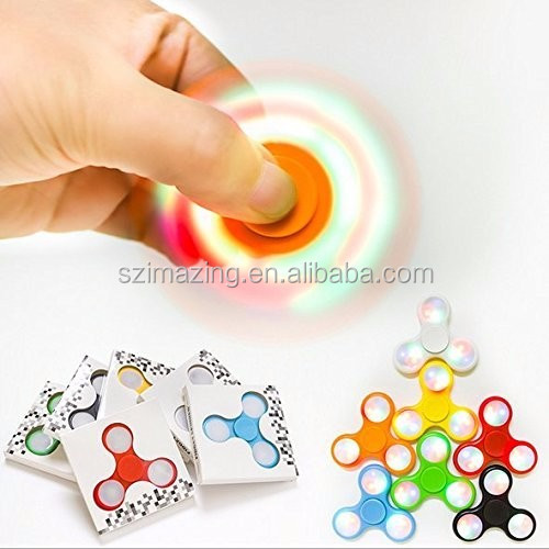 Fidget Hand Spinner With LED LIGHT With Colorful Shining Helps Focus For Kids And Adults Stress Reducer