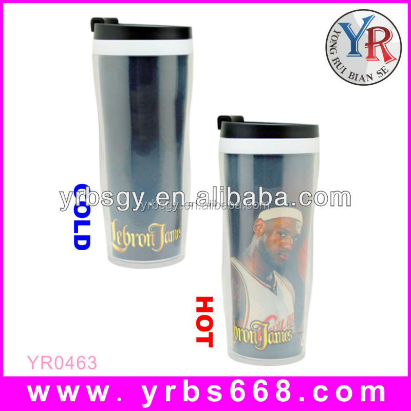 New china products for sale sublimation double wall plastic cup photo inserts
