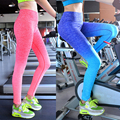 2016 Women Lady Space Dye High Waist Yoga Pants Stretched Leggings Gym Fitness Trousers Breathable Size