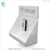Retail store table top cardboard cell phone accessory display stand