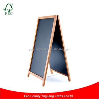 Vintage Solid Wood Magnetic Large A-frame Chalkboard For Long ...