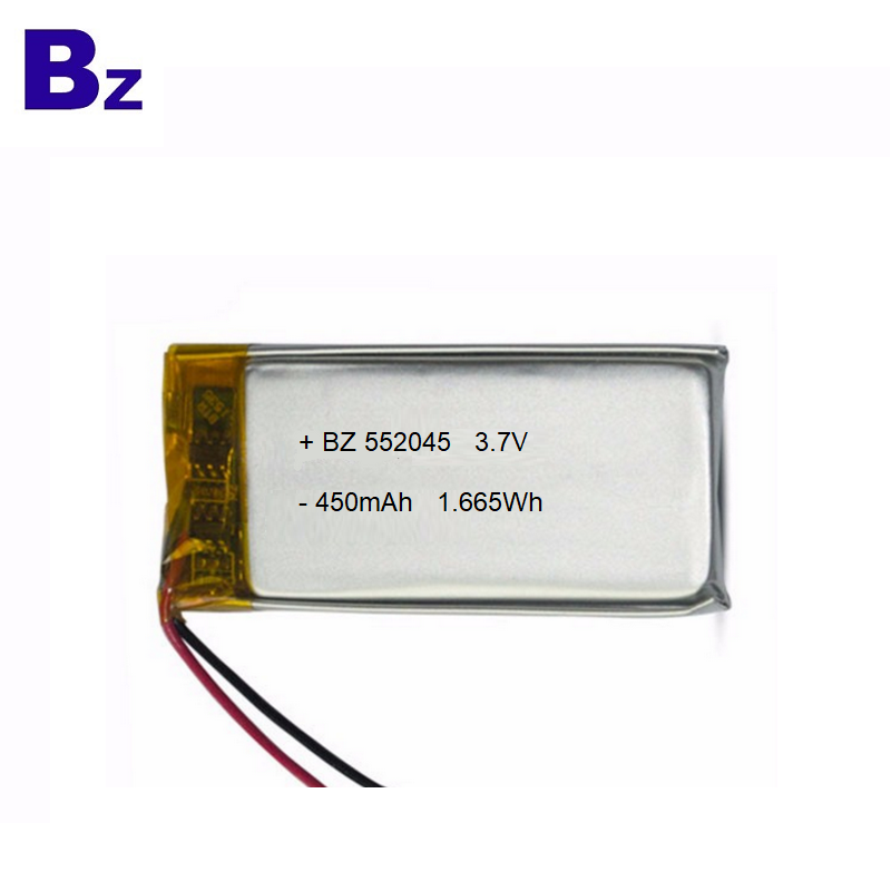 Top Quality Battery for Electric Breast Pump BZ 552045 450mAh 3.7V Lipo Battery with KC Certification