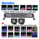 "Crees LED Light Bar RGB Chasing halo ring + 2x 3"" Halo Pods Bluetooth Work light"
