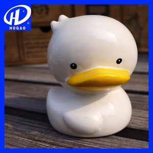 Funny Animal Shape Money Boxes Ceramic Duck Piggy Bank