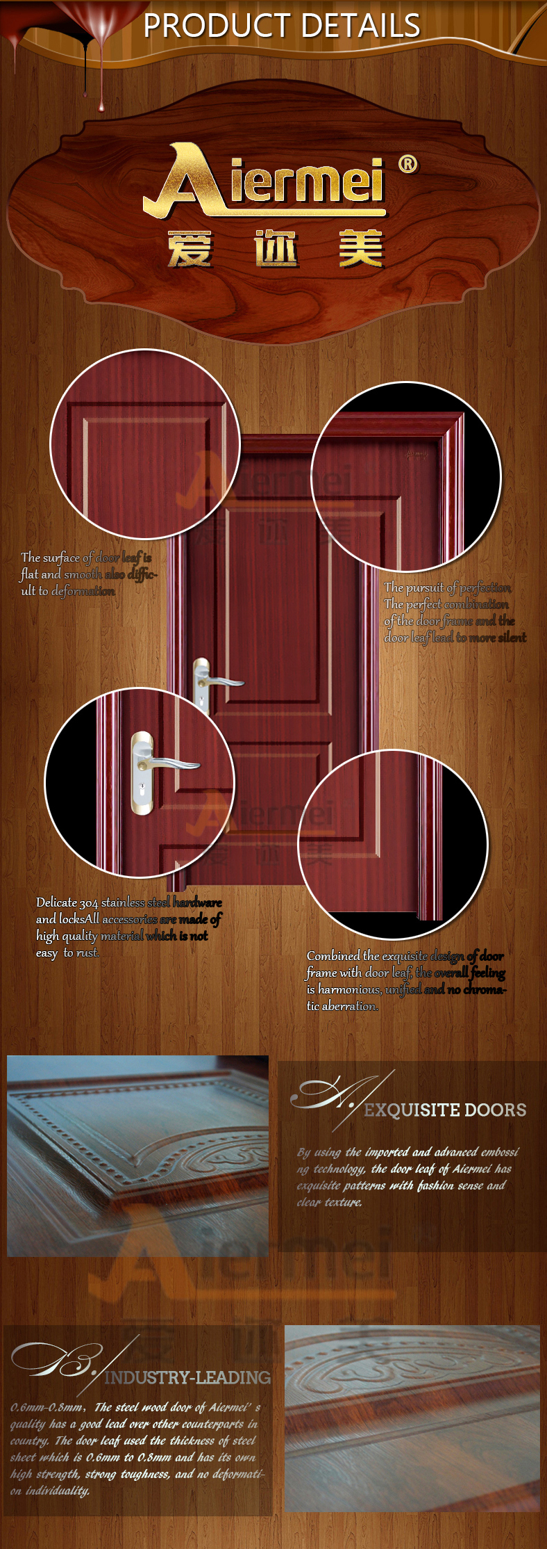 Hot Sale Cheaper Interior Pvc Wood Room Door/gate