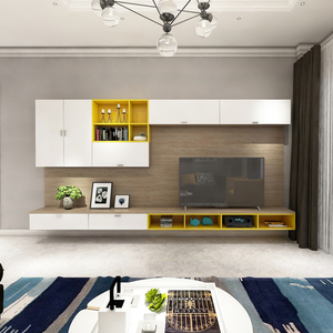 Modern Design Wooden LED TV cabinet with showcase