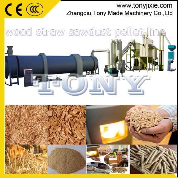 Tony enviroment protection energy saving 3-4 t/h sawdust pellet line price