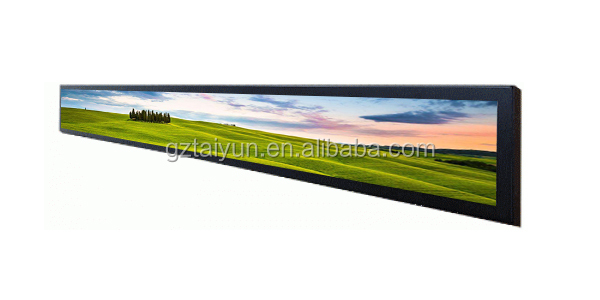 Customized Size Ultra Wide Stretched Bar Lcd Advertising Display/ads Player Lcd Commercial Ultra Stretch Screen