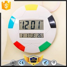 KH-0254 Calendar Digital Desktop Football Desk Office Custom Made Wall Soccer Alarm Clock