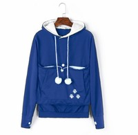 50% off Winter Cartoon Hoodies Lover Cats Kangaroo Dog Hoodies Long Sleeve Sweatshirt Front Pocket Casual Animal Ear Hoodie 4xl