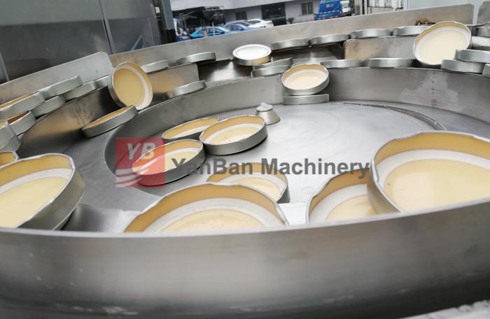 Gerade linie füllung maschine YB-NJ4 4 Düse Honig Marmelade jar runde glas Flasche füllung capping kennzeichnung maschine