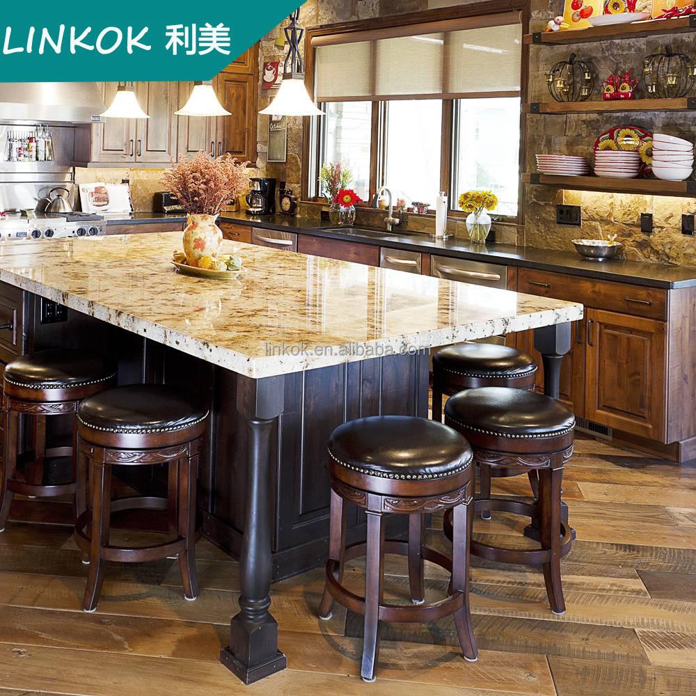Amerikaanse traditionele keuken eiland beuken massief hout keuken ...