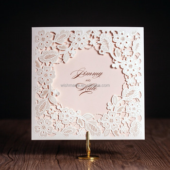 White Luxury Wedding Invitation Card Royal Wedding Design Cw5197