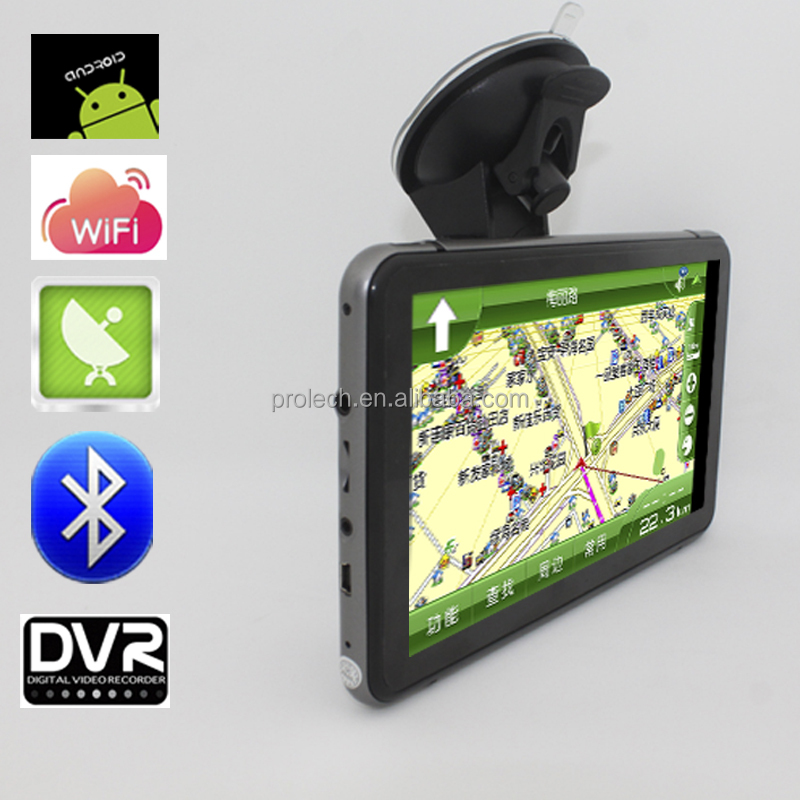 "7"" GPS navigator Tablet PC Android 4.4.2 AV IN WiFi 512MB/8GB FreeMap External 3G"