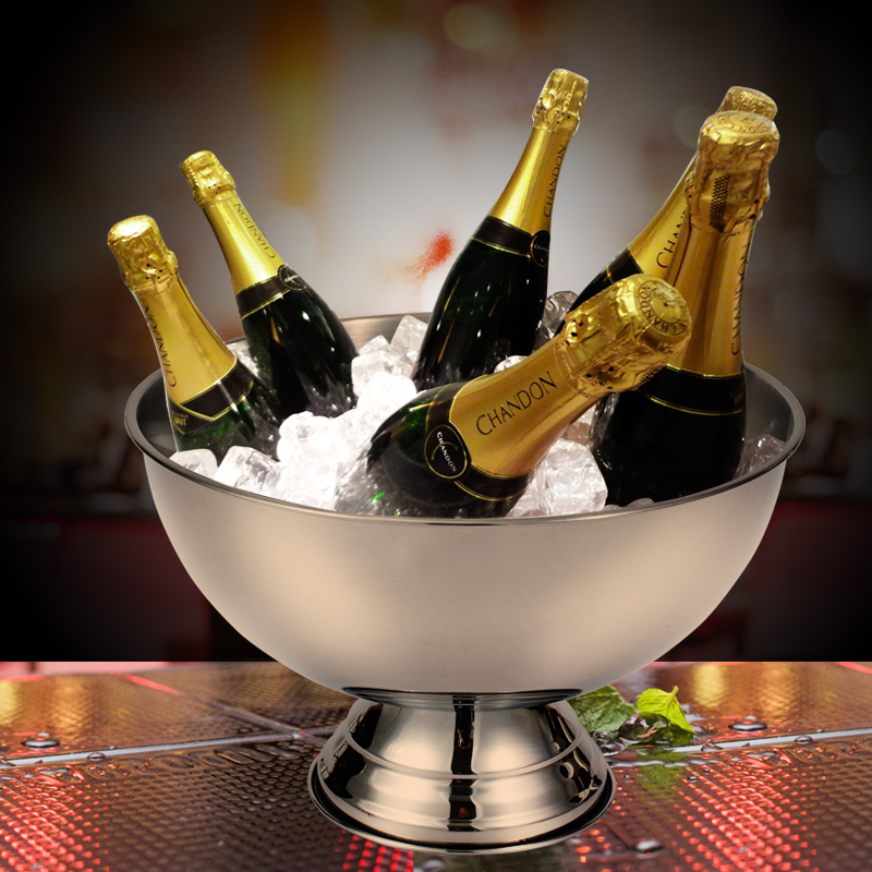 champagne stainless steel bucket large ice bowl 20L double wall