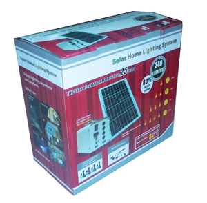 CE RoHS approved 20W solar home lighting kits portable energy systems for indoor and outdoor