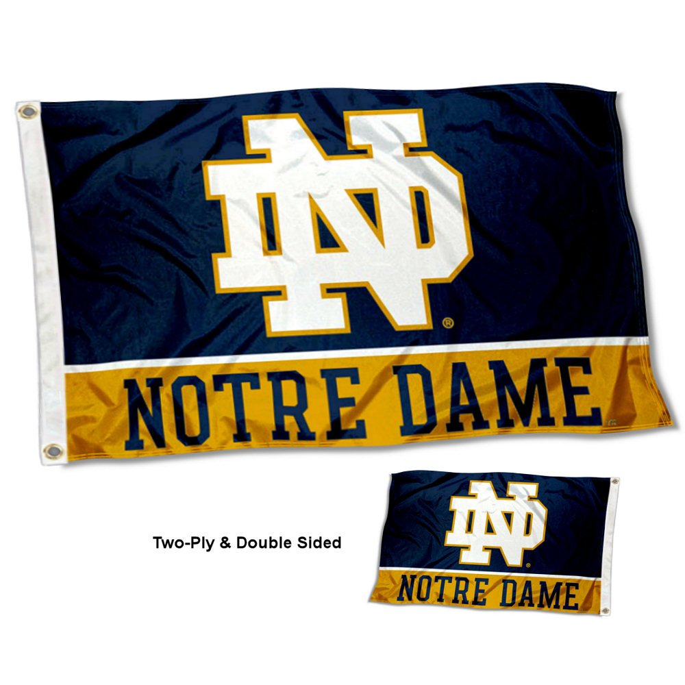 Gentil Get Quotations · Notre Dame Fighting Irish Double Sided Flag