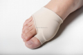 Elastic foot sock with gel pad on big toe against bunion gel sleeve